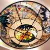 Contemporary Overhead Stained Glass