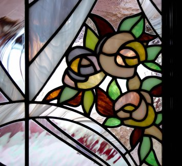 In Art Nouveau style Lines. Stained Glass