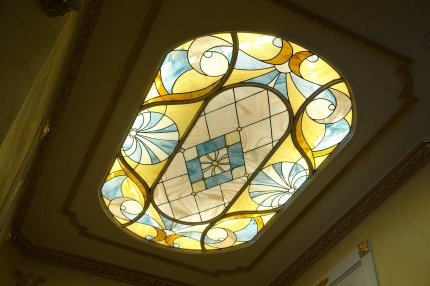 Overhead Stained Glass in Neoclassical Style